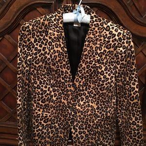 MICHAEL KORS leopard print blazer